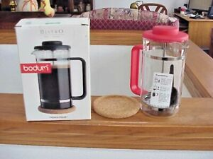 New Bodum Bistro 8 Cup French Press Coffee Maker With Cork Mat