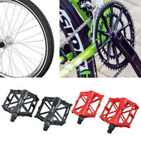 2x Mountain Bike MTB BMX Bicycle Alloy Flat Platform Bearing Pedals ##