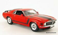 Ford MUSTANG BOSS 302 1970 rouge - 1:24 welly