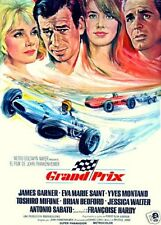 Grand Prix Yves Montand cult movie poster print