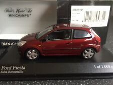 Minichamps 1:43 400 081121 Ford Fiesta 2002 In Red, Superb! Never Displayed