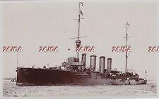 "Royal Navy Real Photo. HMS ""Weymouth"" Light Cruiser. WW1. Fine condition! 1911"