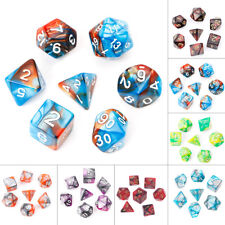 7pcs/Set Acrylic Polyhedral Dice For TRPG Board Game D4-D20 Entertainment Toy