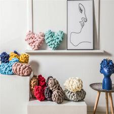 Cotton Heart Shape Pillow Cushion Handmade Weave Knot Sofa Bed Home Office Decor