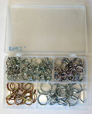 Double Wire Spring Band Type Fuel Hose Clips Silicone Pipe Clamp Box 80x 11-25mm