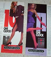 1986 print ad - Playtex Round the Clock pantyhose hosiery SEXY GIRLS legs Advert