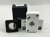 S.T. Dupont HOOKED Ace of Spades Pik As Jet Feuerzeug mit Schlüsselring