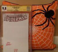 AMAZING SPIDER-MAN: #1 CGC 9.8 SS JOHN ROMITA BLANK SKETCH; 39 50 59 61 HOMAGE?