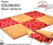 Tappeto Moderno Colorado Poliammide 120x180 Col. Beige Red Lavorazione Meccanica