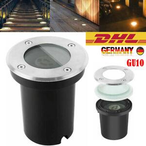 LED Bodeneinbauleuchte GU10 Bodeneinbaustrahler Außenleuchte Gartenstrahler IP67