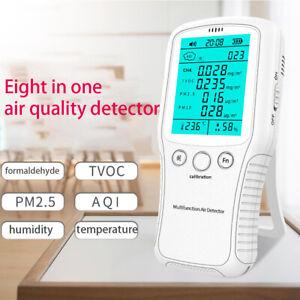 Luft Qualität Messgerät PM10 PM2.5 TVOC AQI Formaldehyd Detektor Staub Sensor