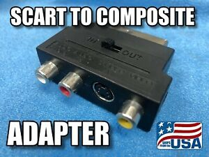 NEW Scart to composite RCA and S Video IN/OUT switchable video adapter - BUY NOW