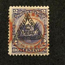 stamp Peru Correos Dos2 Centavos Overprint