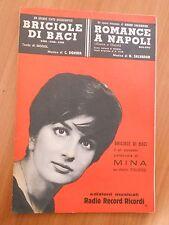 49F - BRICIOLE DI BACI - ROMANCE A NAPOLI MINA ED. RADIO RECORD RICORDI 1960