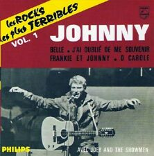 """JOHNNY HALLYDAY: CD SINGLE 4 TITRES """"LES ROCKS LES PLUS TERRIBLES"""" VOL 1"""