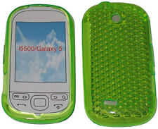 For Samsung i5500 i5508 Galaxy 5 Europa Pattern Gel Case Protector Cover Green