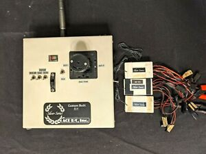 Vintage Ace RC Silver Series Seven 8-Channel Transmitter Single Stick &Receivers