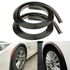 2Pcs 150cm Carbon Fiber Color Rubber Car Fender Flare Wheel Eyebrow Protectors