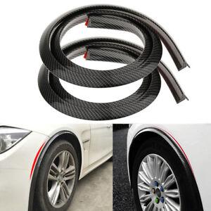2Pcs 150cm Carbon Fiber Color Rubber Car Fender Flare Wheel Eyebrow Protectors