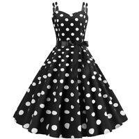 Polka Dot Lady Retro 50s 60s Rockabilly Swing Skater Dress Evening Party Prom