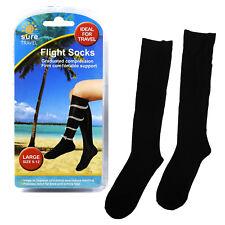 Sure Travel Unisex Mens Womens Compression Flight Socks, Large UK size 9 - 12