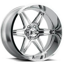 "4ea 24x14"" Hostile Wheels H117 Venom Armor Plated Chrome Off Road Rims(S2)"