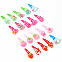 Pretty 20 pcs/Set Kid Girls Hair Clip Resin Flower Cartoon Hair Pins Multi Style