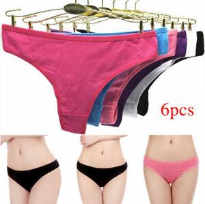 UK 6x Sexy Underwear Women Thongs Fashion Intimates Briefs Tangas Ladies Panties