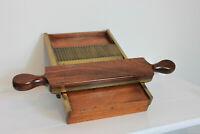 Rare Antique Chemist Apothecary Medicine Pharmacy Pill Roller Mahogany Brass