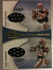 2001 Rudi Chad Johnson Playoff Dual Rookie Jersey Card Cincinnati Bengals NFL RC
