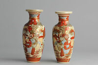Super SET! 19C Japanese Porcelain Vases Landscape 'Figures in a landscape'