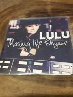 LULU - MAKING LIFE RHYME 10 TRACKS PROMOTIONAL CD ALBUM IN A PLASTIC SLEEVE