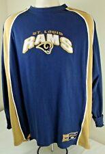 Men's NFL St Louis Rams Monogram Blue & Gold Sweatshirt Size 2XL XXL