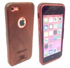 iNature®️IPhone 5C Real Wood Case Hand Crafted Natural Padauk Red Wood Cover