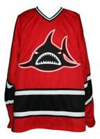 Any Name Number Size Los Angeles Sharks Custom Retro Hockey Jersey Red