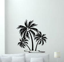 Palm Tree Wall Decal Sea Island Nursery Vinyl Sticker Nautical Baby Decor 122hor