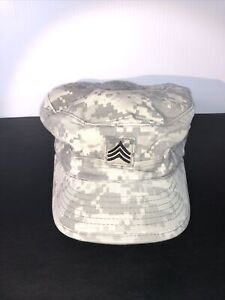 US Military Issue Army Combat Uniform ACU Camouflage Patrol Hat Cap Size 7-1/2