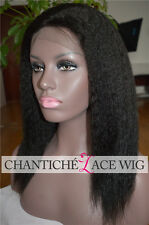 Kinky Straight Lace Front Wig 100 Brazilian Remy Human Hair Wigs For Black Women