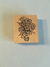 Rubber Stamp - G-3005 Psx 1999 - Roses Bouquet in Vase Flowers