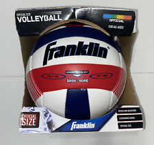 Franklin Official Size Volleyball For All Ages Red White Blue Cushioned Beach