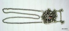 pendant chain belly dance jewelry vintage antique tribal old silver necklace
