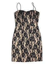 TATYANA Black Tan Lace Mini Short Cocktail Formal LBD size XS Dress