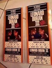 (2) Leonard Vs. Duran III, Unused FULL Tickets