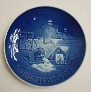 Jule After 1977 Christmas Plate Gift Bing & Grondahl Made in Denmark Excellent