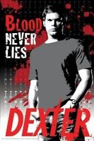 """DEXTER POSTER """"LICENSED"""" BRAND NEW """"BLOOD NEVER LIES"""" MICHAEL C HALL"""