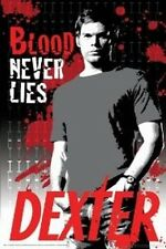 "DEXTER POSTER ""LICENSED"" BRAND NEW ""BLOOD NEVER LIES"" MICHAEL C HALL"