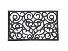 Paillasson caoutchouc noir effet ancien - 75 x 45 x 1.2 cm - Haute qualité