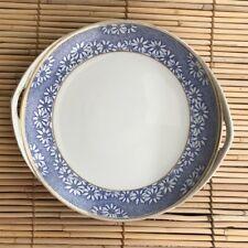 Rosenthal Donatello 10-Inch Plate Blue White Dots Flowers Gold Rim Selb Bavaria