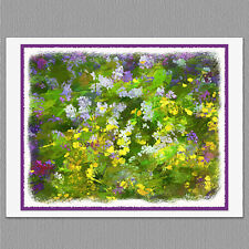 6 Maine Flower Wildflower Painted Syle Original Handmade Note Greeting Cards
