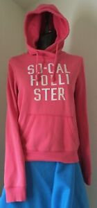 Women's SO-CAL HOLLISTER Small (S) Pink Long Sleeve Pull Over Hoodie